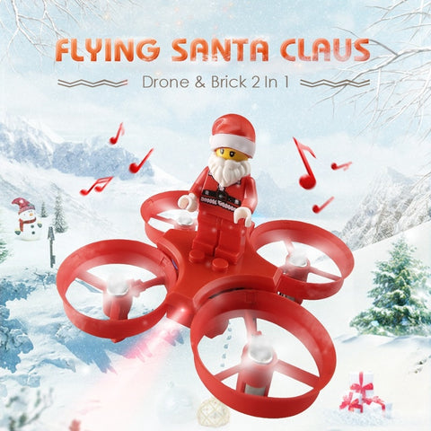 Flying Santa Claus With Christmas songs