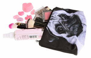 Pug Dog 3D Printing Pencil Cosmetic & Make Up Bag