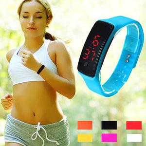 Men & Women's Silicone Strap Touch Dial Digital LED Sport Watch - shoppingridge