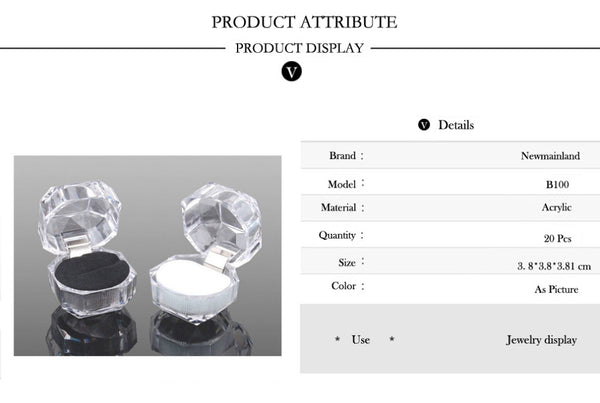 Hot Sale Jewelry Package Ring Ear Ring Box - shoppingridge
