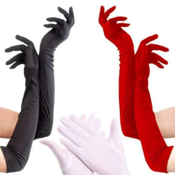 Over The Elbow Sun Protection Beautiful Looking Gloves/Mittens - shoppingridge