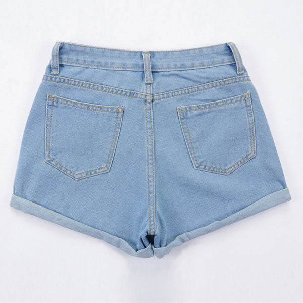 Trendy Blue Jeans Shorts For Women - shoppingridge