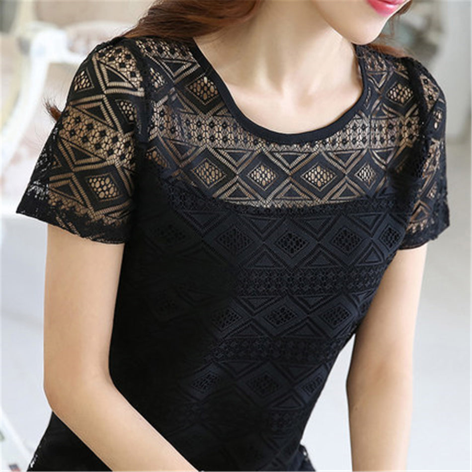 Sexy Round Neck Blouses For Women - shoppingridge