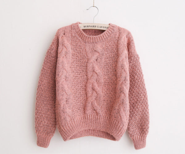 Warm Pullover and Jumpers Crew Neck Sweater - shoppingridge