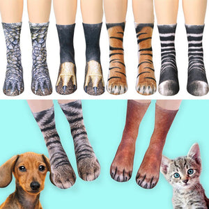 Animal Paw Printed Unisex Socks - shoppingridge