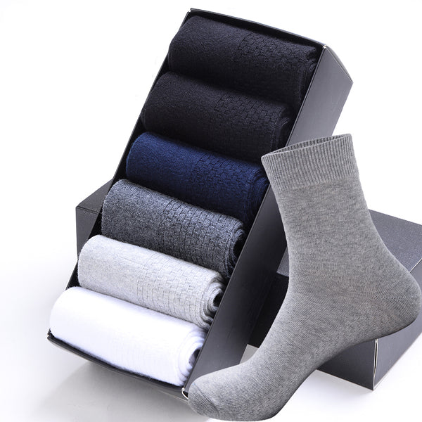 Cotton Business Socks For Men(5pairs) - shoppingridge