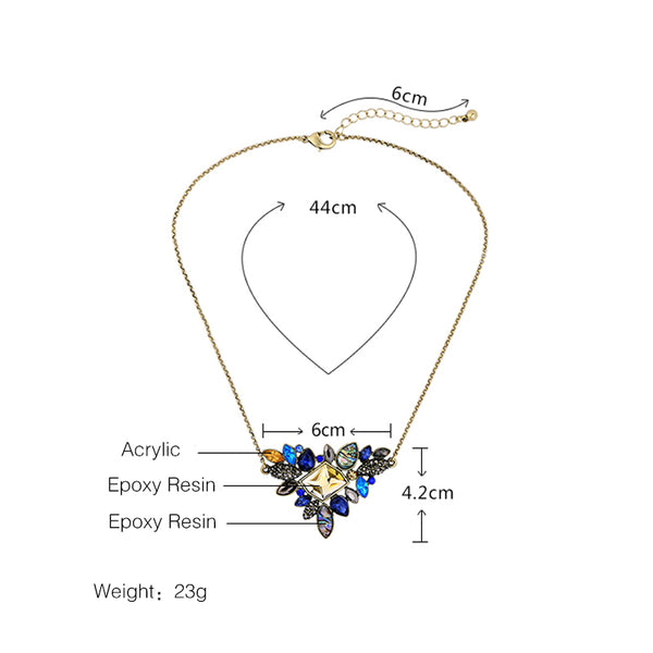Charming Rhinestone Pendant Necklace 2018 - shoppingridge