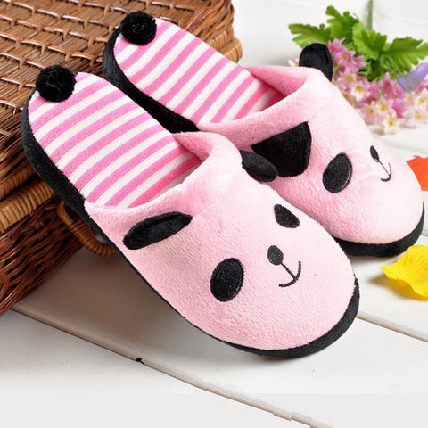 Lovely Panda Soft Stripe Home Use Slippers For Women