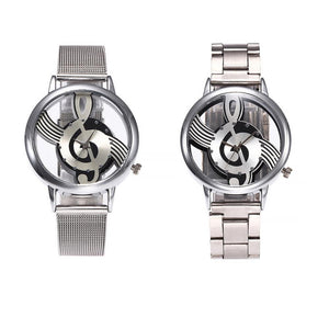 Retro Double-Sided Hollow Music Notation Watch
