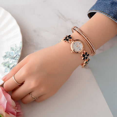 Crystal Gold Women's Bracelet Quartz Wristwatch