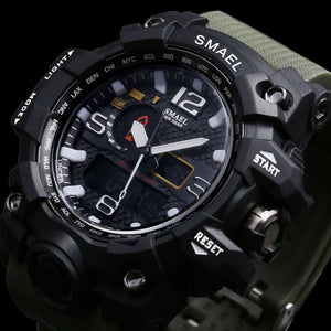 Men's Military 50m Waterproof Shock Watch - shoppingridge