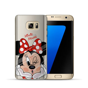 Trendy Mickey Minnie Silicon Case For Samsung