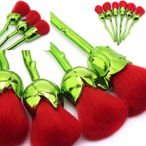 Rose Flower Powder Makeup Brush-6Pcs