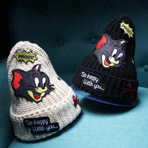 New Winter Knitted Cartoon Skullies/Caps For Women