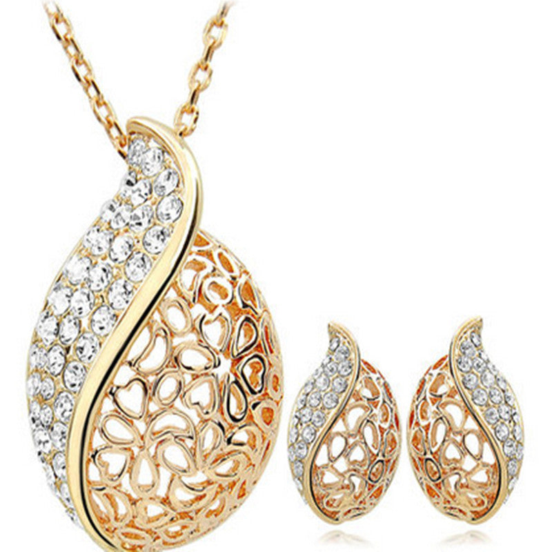 Everlasting Happiness With Ear Rings  & Necklace Jewelry Set - shoppingridge