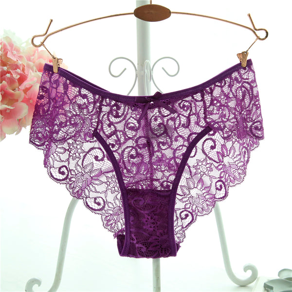 Fashion High Quality Women's Hot Transparent Lace Underwear - shoppingridge