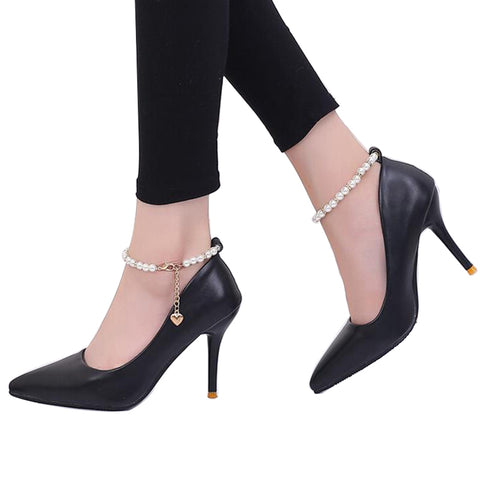 High Quality Elegant Casual Leather Pumps/High Heels