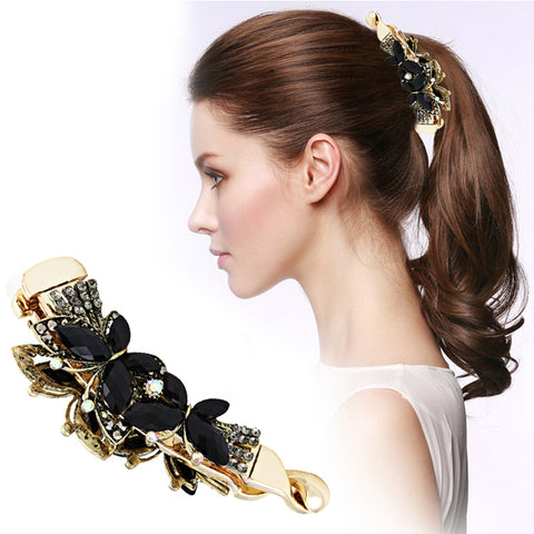 Women's Banana Hair Clip Claw Holder -Butterfly Resin Hairpin - shoppingridge