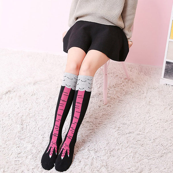 Women's Over Knee High Chicken Leg Socks