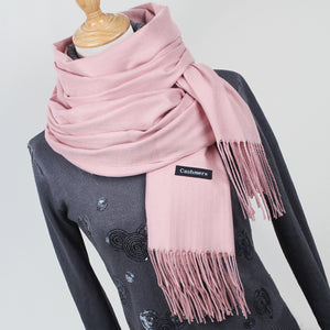 Women Solid Color Scarves With Tassel