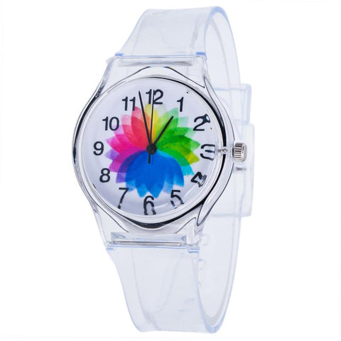 Transparent Clock Silicone Sport Quartz Wrist watch