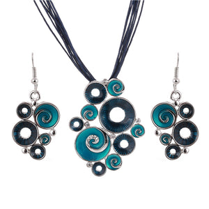 Women Pendant Necklaces & Earrings Set - shoppingridge