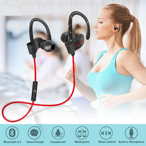 Wireless Sweatproof Bluetooth Sport Earphones