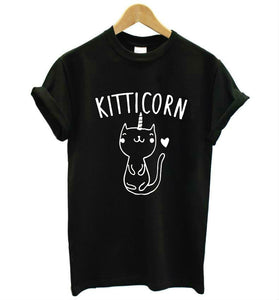 Kitti Corn Kitten Unicorn Cat Printed Women's T-Shirt