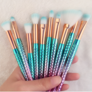 Mermaid Soft Foundation Makeup Brushes