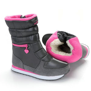 Mid Calf Synthetic Winter Zipper Snow Boots For Women