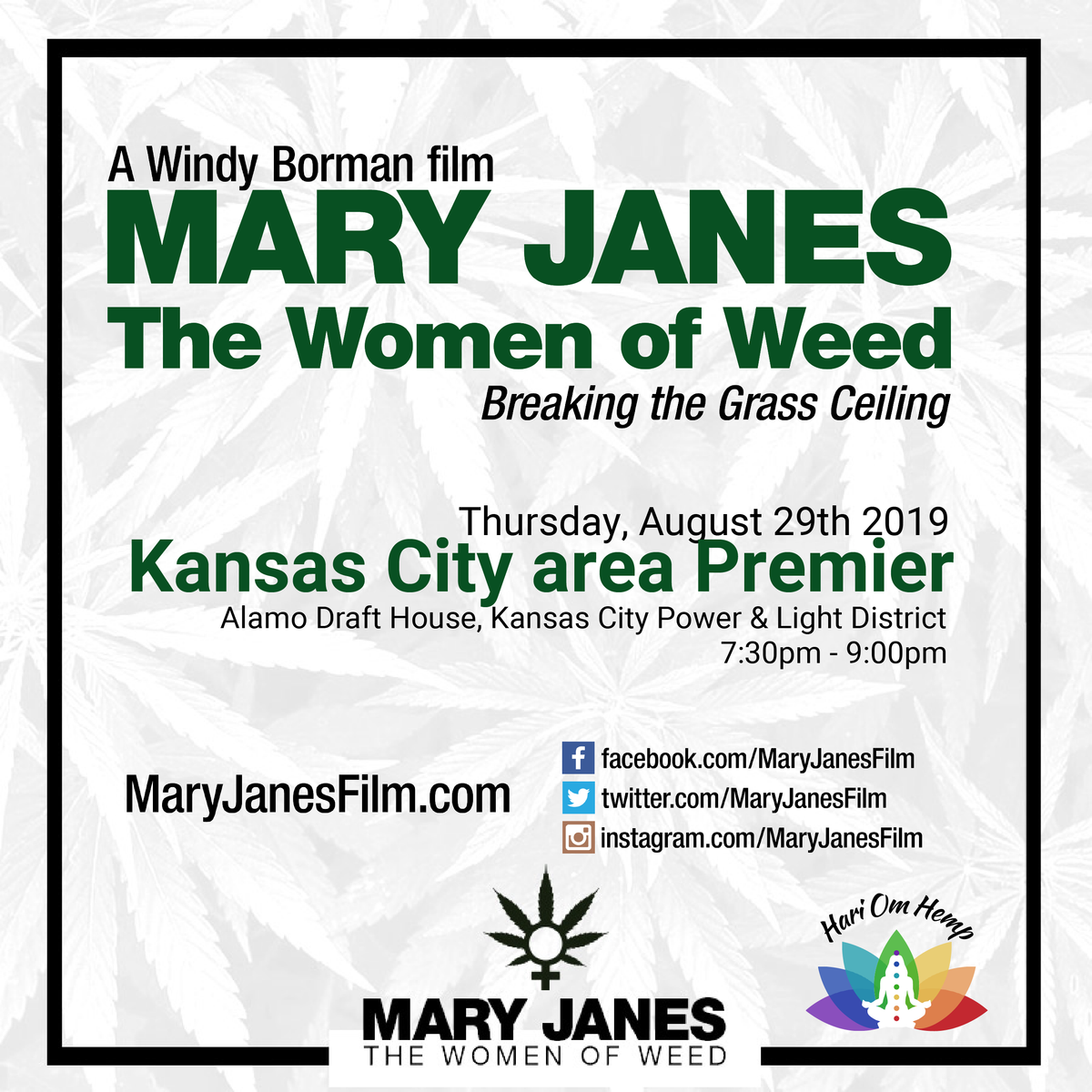Kansas City Area Premier - MARY JANES - The Women of Weed film