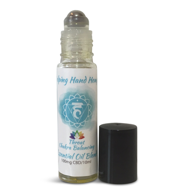 Helping Hand Hemp Chakra Balancing Essential Oil Roll On (100mg CBD) - Hari Om Hemp