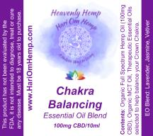 Heavenly Hemp Chakra Balancing Essential Oil Roll On (100mg CBD) - Hari Om Hemp