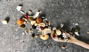 Raw to the Core - The Muesli Folk Snack Nutmix Gut Health Gut Friendly Energy Vegan Small Batch Seeds Raw Plant Based Paleo Organic Nuts No Refined Sugar No Preservatives No oil Muesli Handcrafted Granola Grain Free Gluten Free