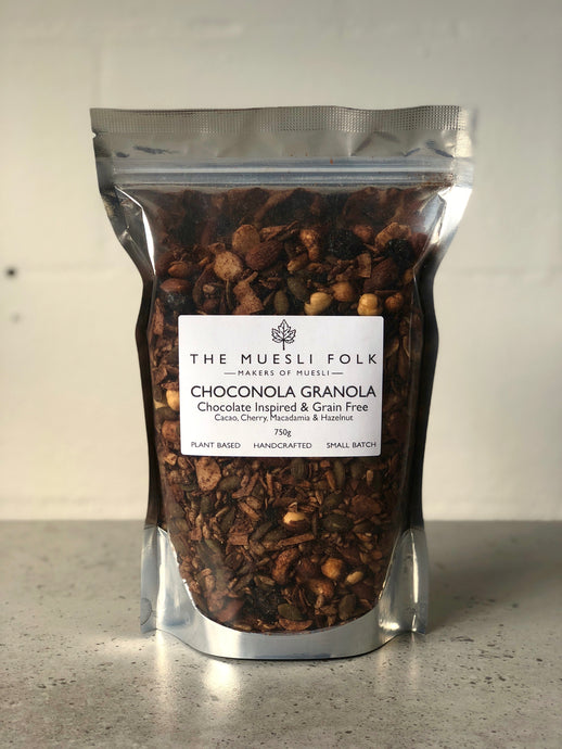 Choconola Granola - The Muesli Folk Granola vegan plantbased glutenfree