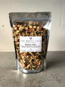 Paleo Fuel - The Muesli Folk Grain-Free Snack Nutmix Energy Vegan Toasted Small Batch Seeds Plant Based Paleo Organic Nuts No Refined Sugar No Preservatives No oil Muesli Maple Handcrafted Granola Grain Free Gluten Free Crunchy Baked