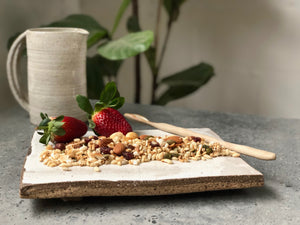 Gluten Free Maple - The Muesli Folk Vegan Toasted Small Batch Seeds Plant Based Organic Nuts No Refined Sugar No Preservatives No oil Maple Light Handcrafted Gluten Free Crunchy Baked