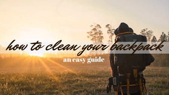 How to wash your backpack / An easy guide