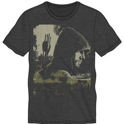 The Green Arrow Graphic Grey T-Shirt Men