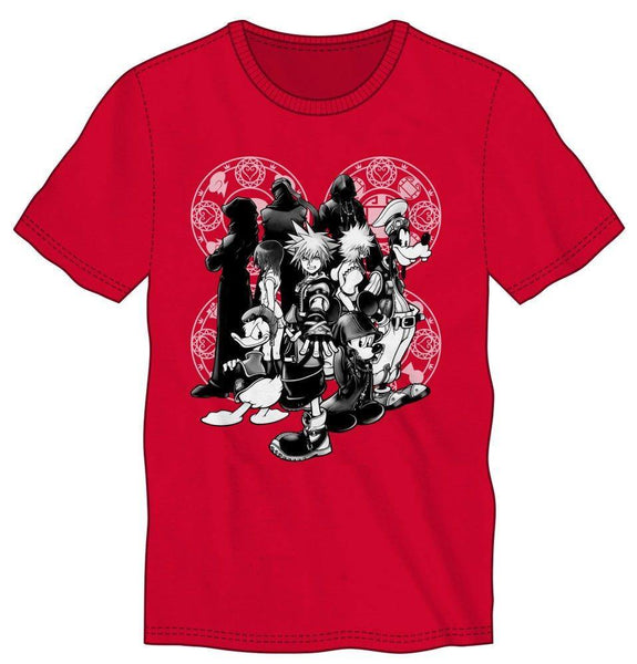Disney Kingdom Hearts Character Men Red T-Shirt