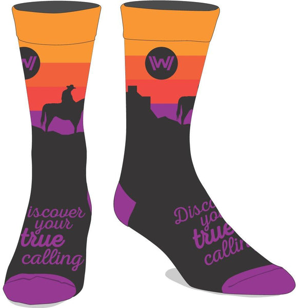Westworld Casual Cowboy Sunset Crew Socks