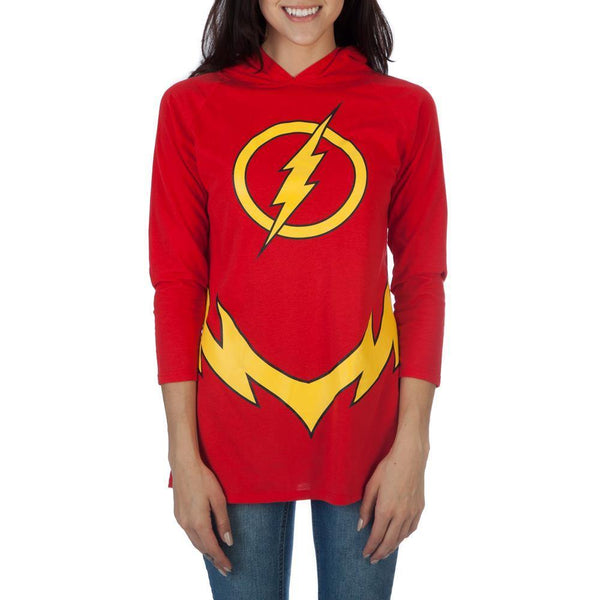 DC COMICS FLASH HOODED RAGLAN