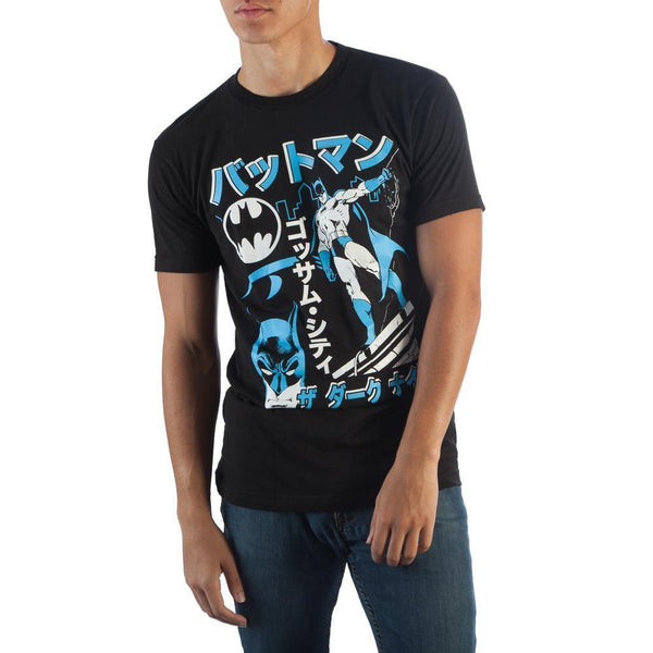 Batman anime Kanji Black T-Shirt Men