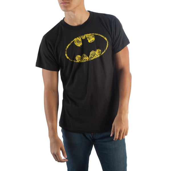 Batman Oval Logo Vintage Black T-Shirt Men