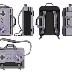 Game Controller Backpack Inspired by Super Nintendo