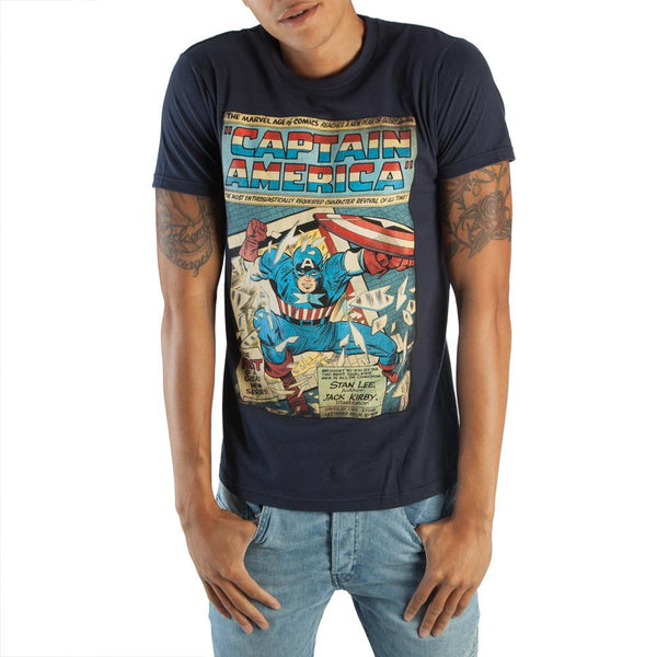 Marvel Captain America Comic Artwork T-Shirt Men