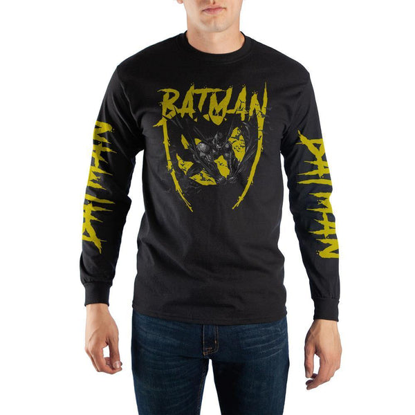 Black and Yellow Long Sleeve Batman T-Shirt