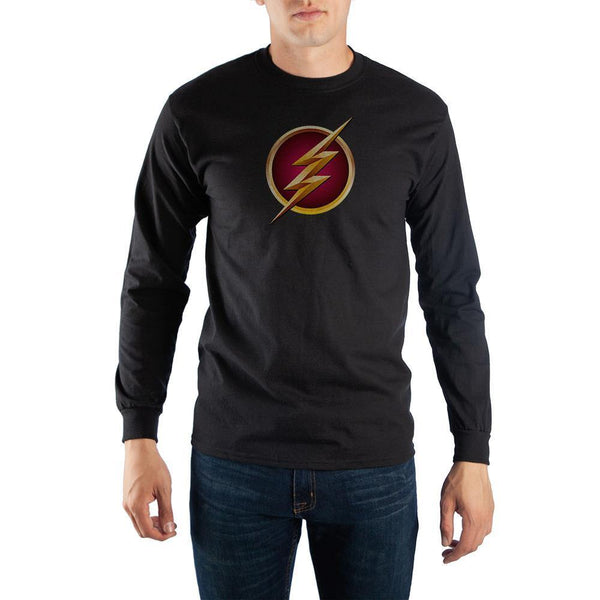Black Long Sleeve Flash T-Shirt