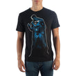 Superman Space Filled Black Men T-Shirt
