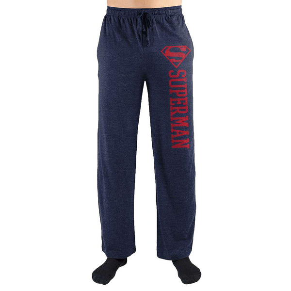 Superman S Symbol Print Men Sleepwear Pants